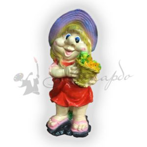 Форма силиконовая для садовой фигуры девочка с овощами
