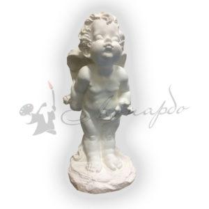 Форма для садовой фигуры ангел с розой