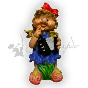 Форма для садовой фигуры девочка с гармошкой