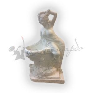 Форма силиконовая для изготовления кашпо в виде греческой девушки срозами