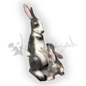 Форма силиконовая для фигуры заяц мама