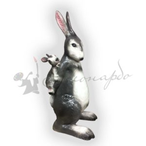 Форма силиконовая для фигуры заяц папа