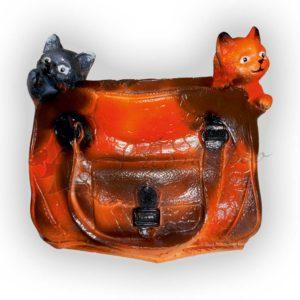 Форма для изготовления декоративного кашпо котята в сумке