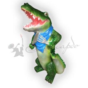 Форма силиконовая для садовой фигуры крокодил