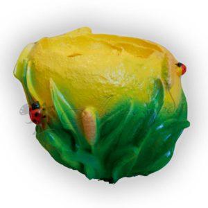 Форма силиконовая для изготовления декоративного кашпо с лилиями
