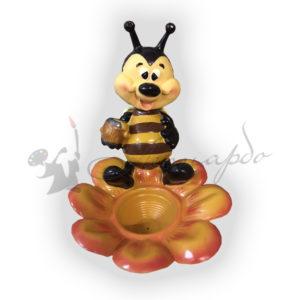 Форма силиконовая для изготовления зоокашпо пчелка на цветке.