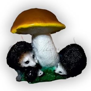 Форма силиконовая для изготовления садовой фигуры ёжики под грибом