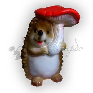 Форма силиконовая для изготовления садовой фигуры ёжики с грибом