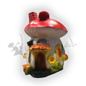 Форма силиконовая для садовой фигуры грибок теремок
