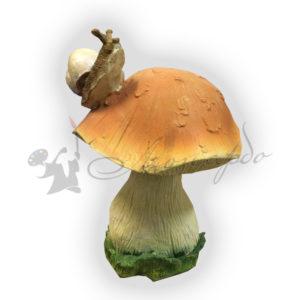 фигура для сада гриб с улиткой