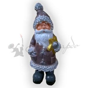 Форма для изготовления новогодней фигуры Дед мороз со звездой