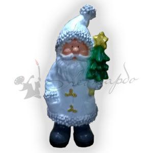 Форма для изготовления декоративной новогодней фигуры Дед мороз с елочкой