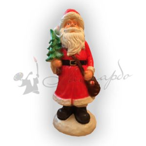 Форма для производства новогодней фигуры Дед мороз сумкой и елкой