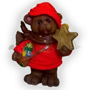 Форма для изготовления новогодней фигуры Мишка со звездой