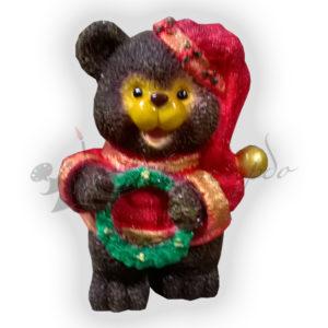 Форма для изготовления новогодней фигуры Мишка с венком