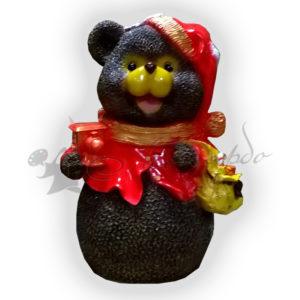 Форма для изготовления новогодней фигуры Мишка с подарком