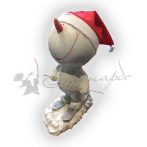 Форма для производства новогодней фигуры Снеговик на лыжах