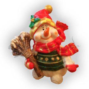 Форма для изготовления новогодней фигуры Снеговик с веником