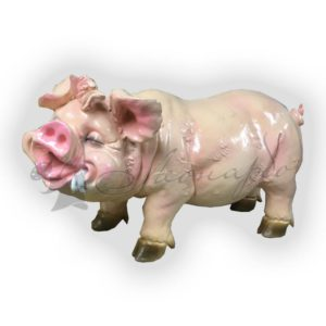 Форма силиконовая для изготовления садовой фигуры веселая свинка