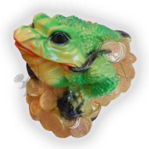 Форма силиконовая для изготовления декоративной фигуры лягушка на монетах