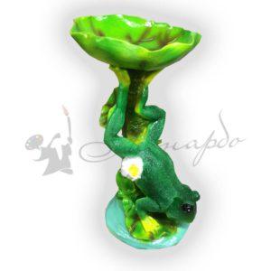 Форма силиконовая для изготовления декоративной фигуры лягушка с кувшинкой