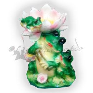 Форма силиконовая для изготовление декоративной фигуры лягушка под лилиями