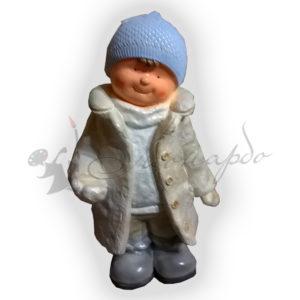Форма силиконовая для изготовления фигуры декоративной мальчик в шапочке