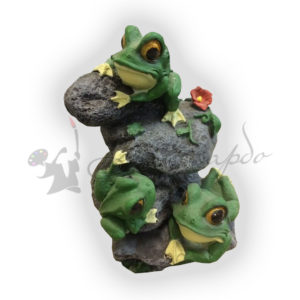 Форма силиконовая для изготовления фигуры для сада лягушка на камнях