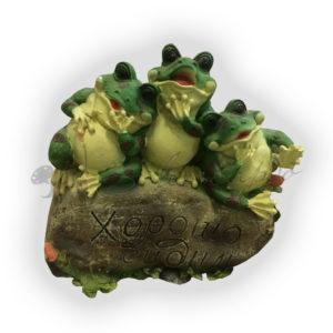 Форма силиконовая для литья садовой фигуры лягушки хорошо сидим