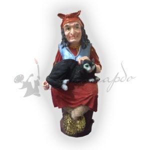 Форма силиконовая для изготовления сказочной фигуры Баба Яга с котом