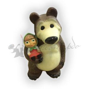 Форма силиконовая для изготовления декоративной фигуры медведь с девочкой