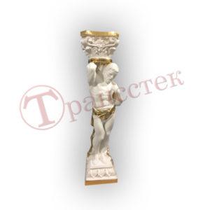 Форма силиконовая для изготовления античной фигуры Геракл кашпо