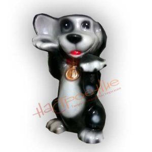 Форма силиконовая для изготовления садовой фигуры собака с медалькой