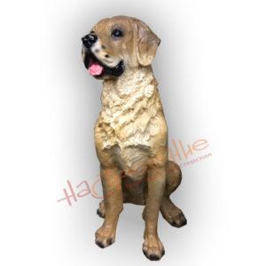 Форма силиконовая для изготовления садовой фигуры собаки лабрадор большой