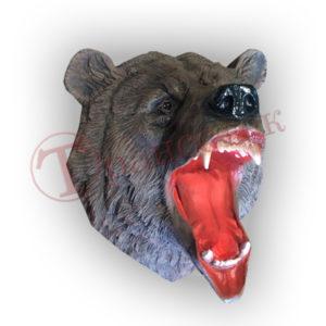 Форма для изготовления подвесной фигуры голова медведя