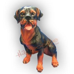 Форма силиконовая для изготовления садовой фигуры собаки ротвейлер средний