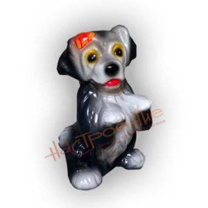 Форма силиконовая для изготовления декоративной фигуры собачка с бантом