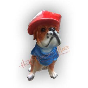 Форма силиконовая для изготовления декоративной фигурки (копилки) щенок в кепке