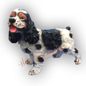 Форма для изготовления садовой фигуры собаки спаниель.