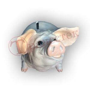 Форма силиконовая для изготовления копилки свинка
