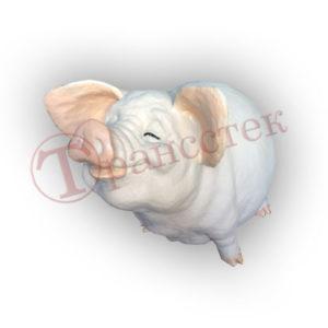 Форма силиконовая для изготовления копилки свинка в умилении