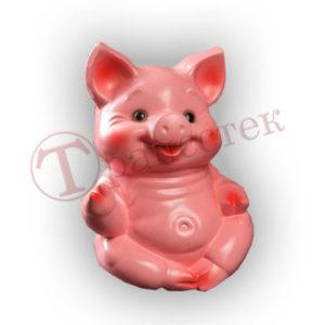 Форма силиконовая для изготовления копилки свинка в позе лотоса