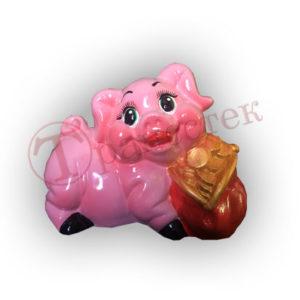 Форма силиконовая для изготовления копилки свинка с кошельком