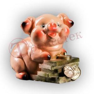 Форма силиконовая для изготовления копилки свинка с купюрами