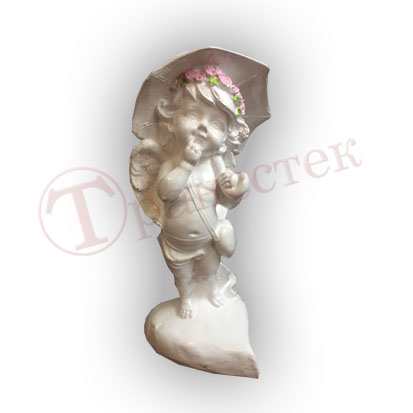 Форма силиконовая для изготовления фигурки ангелок с зонтиком