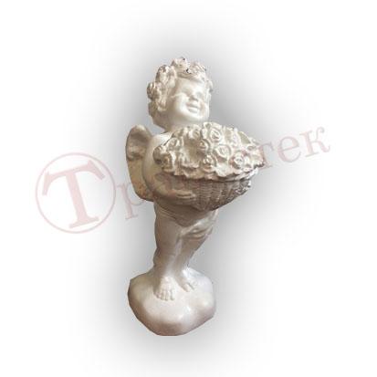 Форма силиконовая ангелок с корзинкой цветов