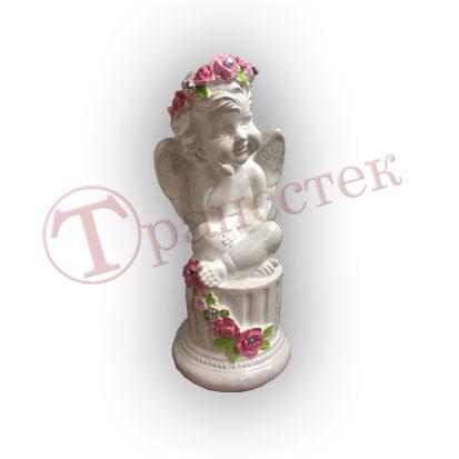 Форма силиконовая для изготовления фигурки ангела на тумбе