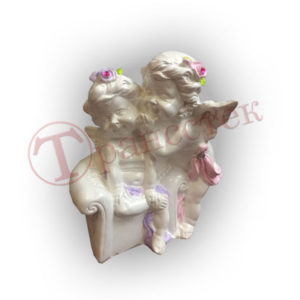 Форма силиконовая для изготовления фигурки ангелочки нашёптывание