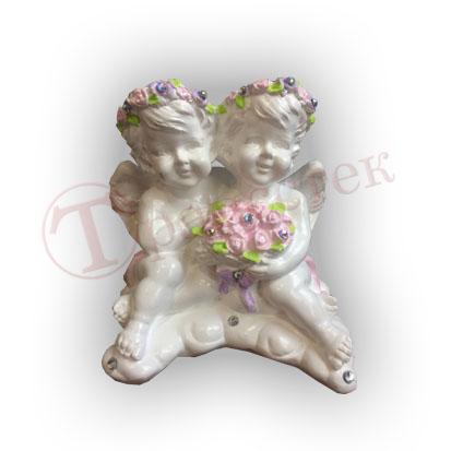 Форма силиконовая для гипсовой фигурки ангелочки пара
