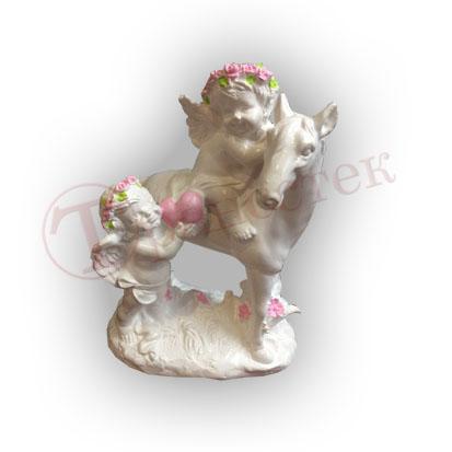 Форма силиконовая для изготовления фигуры ангела с лошадкой